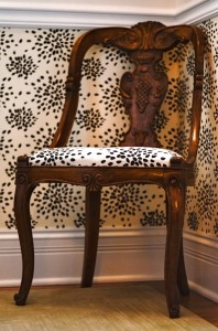 chair on stairway