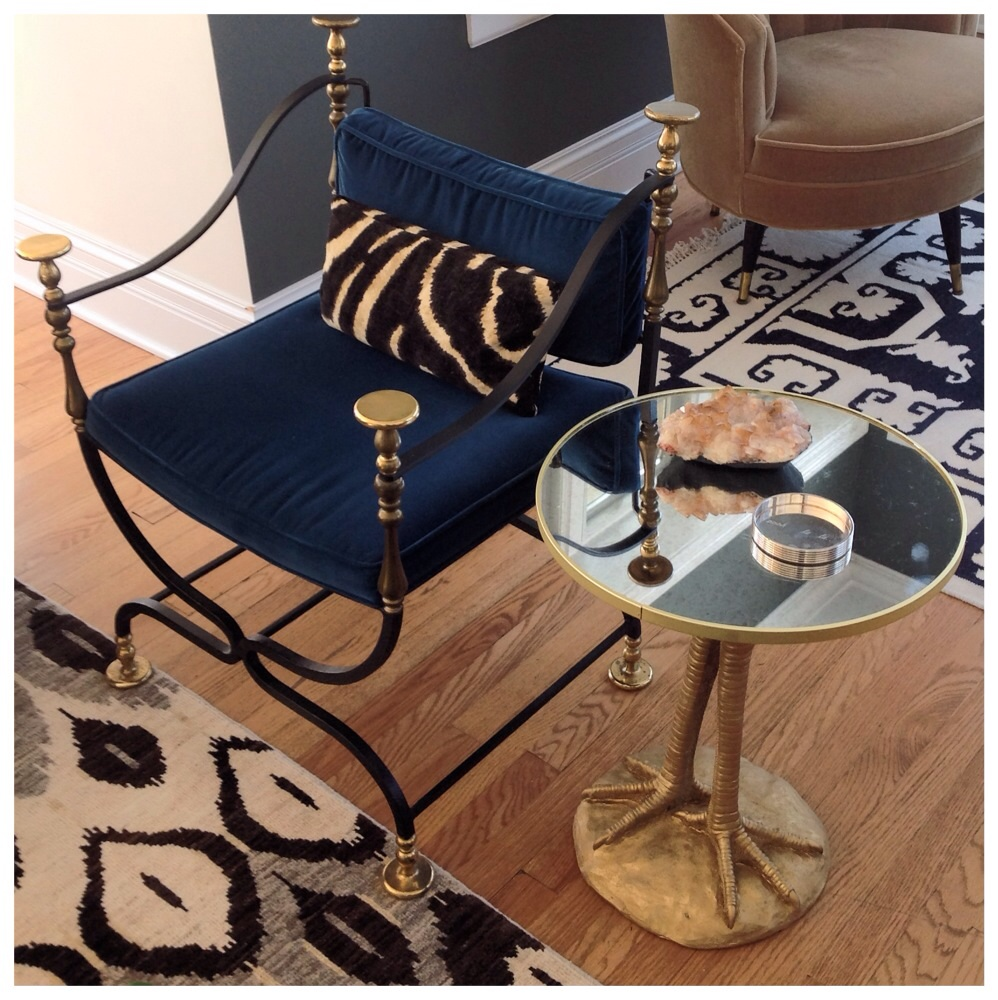 Zara Home Bird Leg Side Table Interiors Gold Mirrior Foot