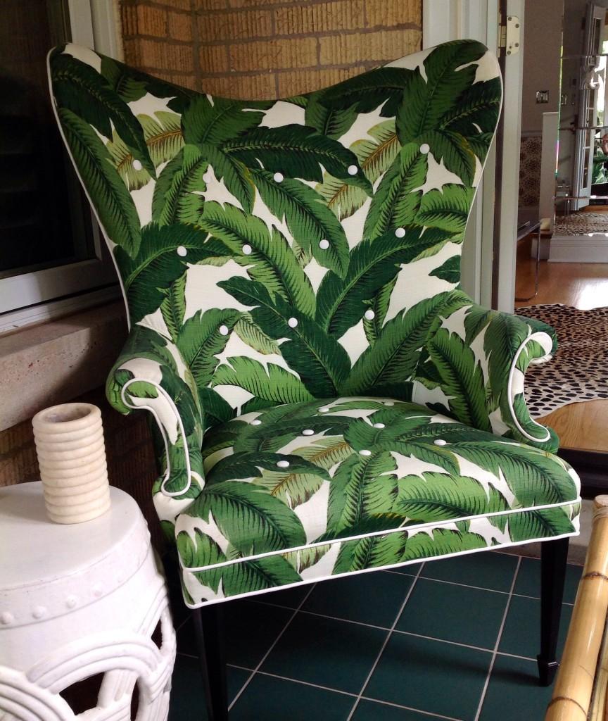 Palm Print Wingback