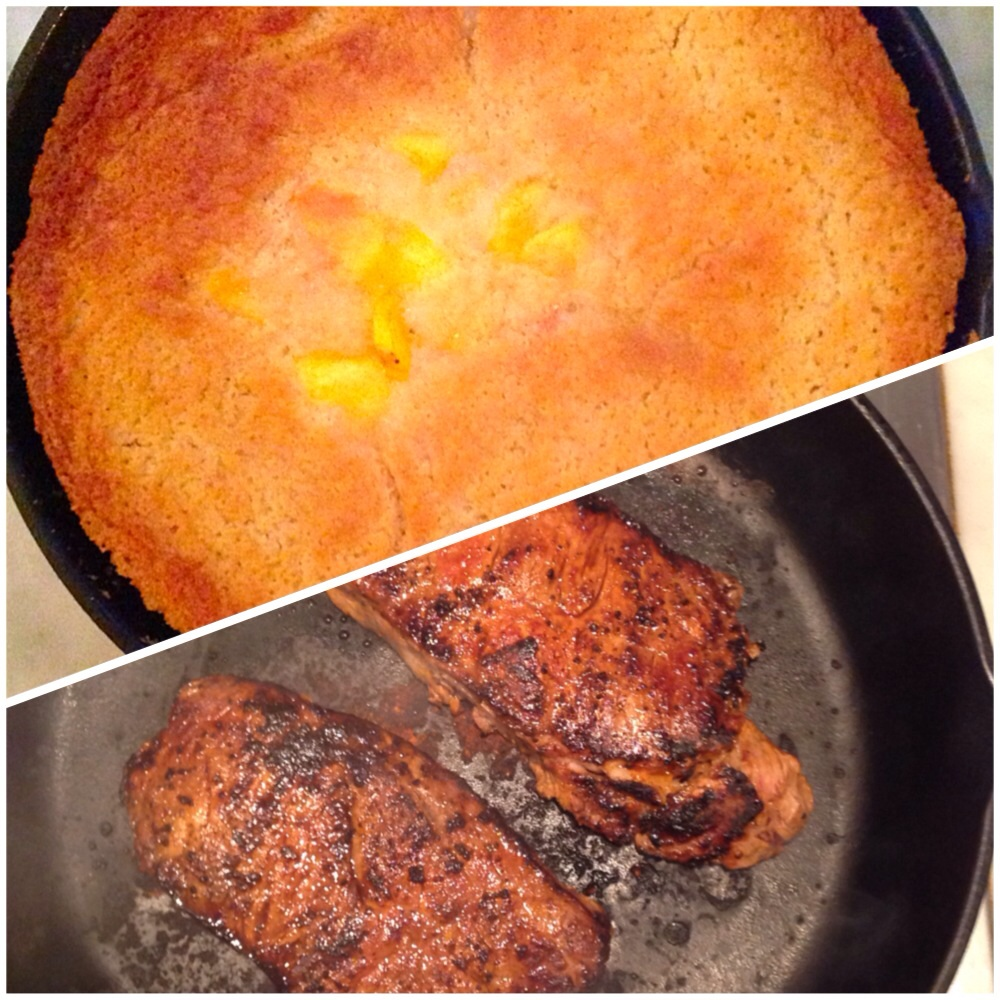 Cobbler & Steaks Cast Iron Skillet
